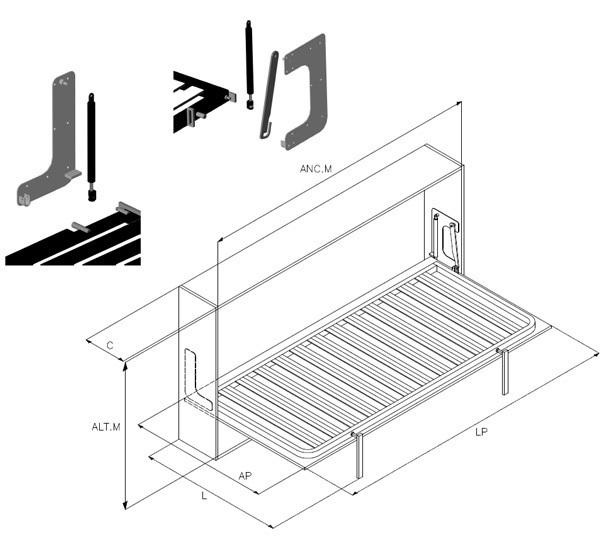 Как сделать горизонтальную кровать трансформер своими руками чертежи 47