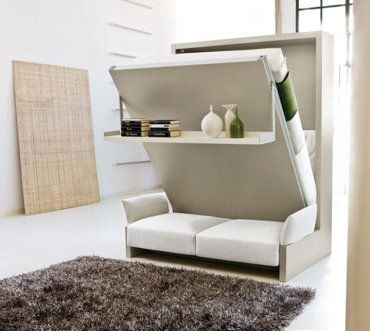 Eine Schöne Lösung Für Ein Kleines Zimmer. Tagsüber   Es Ist Ein Stilvolles  Sofa Und Nachts   Ein Doppelbett. Dank Eines Durchdachten Designs Müssen  Sie ...