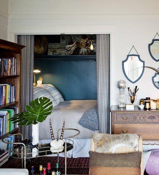 Ich Werde Beispiele Geben, Wenn Die Größe Des Schlafzimmers Buchstäblich  2 4 Quadratmeter Beträgt, Aber Es Schafft Es Auch, Das Bett Dort Zu  Platzieren.